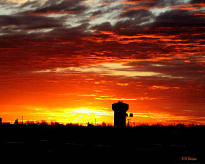Photograph - Sunrise In Fort Dodge Iowa by Kathy M Krause