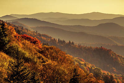 Photograph - Sunrise In Great Smoky Mountains National Park by Teri Virbickis