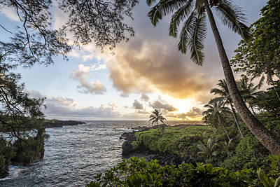 Shore Photograph - Sunrise In Hana by Jon Glaser