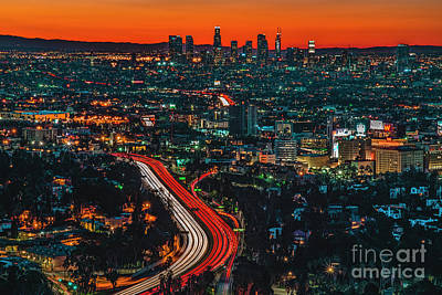 Sunrise In Hollywood Print by Art K