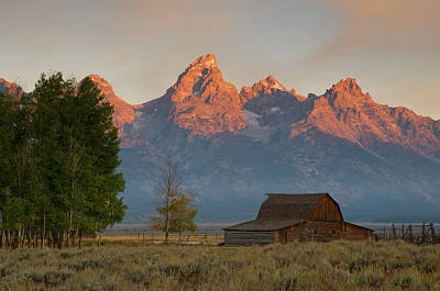 Art Print featuring the photograph Sunrise In Jackson Hole by Steve Stuller