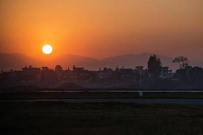 Photograph - Sunrise In Kathmandu by Owen Weber