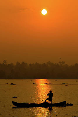 Photograph - Sunrise In Kerala by Mark Perelmuter