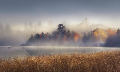 Autumn Landscape Photograph - Sunrise In Lake Placid  by Magda  Bognar