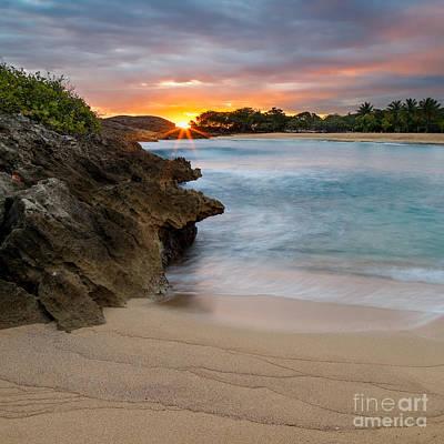 Sunrise In Mar Chiquita Art Print by Ernesto Ruiz
