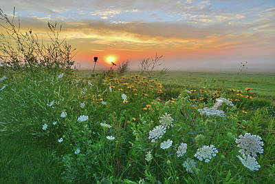 Photograph - Sunrise In Mchenry County by Ray Mathis
