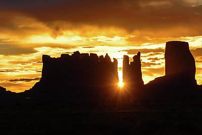 Photograph - Sunrise In Monument Valley - Utah by Debra Martz