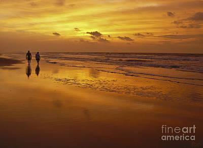 Sunrise In Orange Print by Jeff Breiman