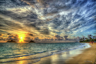 Photograph - Sunrise In Pastels Lanikai Beach Oahu Hawaii Collection Art by Reid Callaway