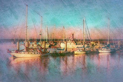 Photograph - Sunrise In Peach And Aqua Textures by Debra and Dave Vanderlaan