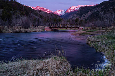 Big Thompson River Photograph - Sunrise In Rocky Mountain National Park And The Big Thompson Riv by Ronda Kimbrow
