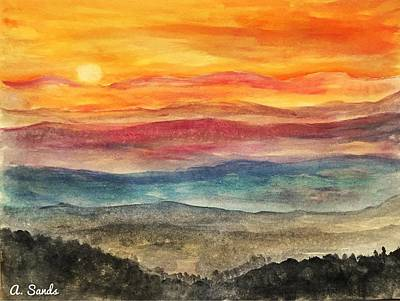 Painting - Sunrise In Shenandoah Park by Anne Sands
