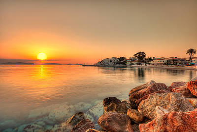 Spetses Photograph - Sunrise In Spetses Island - Greece by Constantinos Iliopoulos