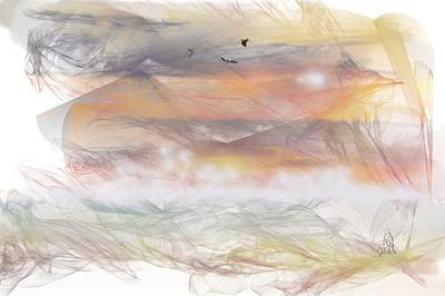 Painting - Sunrise In Steamy Fog by Angela Stanton