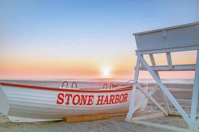 Beach Photograph - Sunrise In Stone Harbor by Robert Barnes