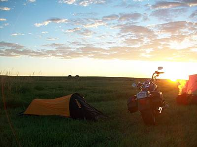 Sunrise In Sturgis South Dakota Art Print by Johnny Yen
