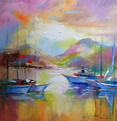 Sunrise In The Bay Print by Olha Darchuk