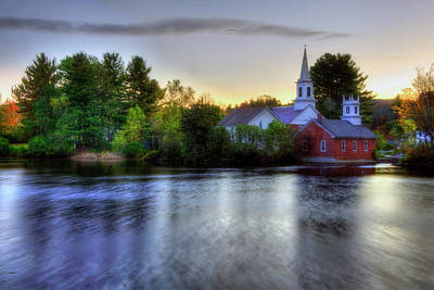 Photograph - Sunrise In The Country - Harrisville Nh by Joann Vitali