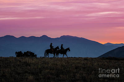 Gunfight Digital Art - Sunrise In The Lost River Range Wild West Photography Art By Kay by Kaylyn Franks