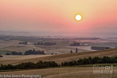 Photograph - Sunrise In The Palouse  by John Greco