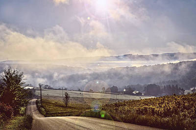 Photograph - Sunrise In The Rolling Hills Of Pa by Bernadette Chiaramonte