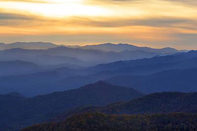 Photograph - Sunrise In The Smokies by CA  Johnson
