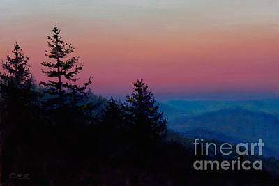 Smokey Mountains Painting - Sunrise In The Smokies by Christa Eppinghaus