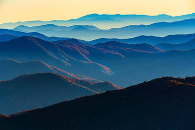 Blue Ridge Parkway Photograph - Sunrise In The Smokies by Rick Berk