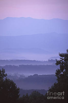 Photograph - Sunrise In The Smokies by Stan and Anne Foster