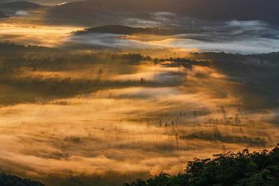 Sunrise In The Valley Art Print