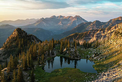 Wasatch Wall Art - Photograph - Sunrise In The Wasatch by James Udall