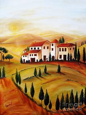 Sunrise In Tuscany Art Print by Christine Huwer