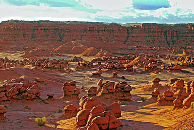 Photograph - Sunrise In Valley Of The Goblins In Goblin Valley State Park, Uta by Ruth Hager