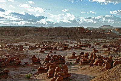 Photograph - Sunrise In Valley Of The Goblins In Goblin Valley State Park, Utah by Ruth Hager