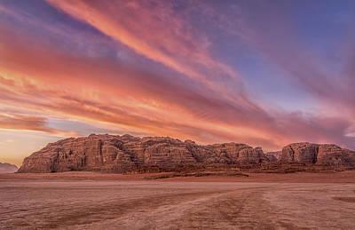 Sunset In Wadi Rum Desert  Jordan Original by Yves Gagnon