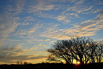 Photograph - Sunrise In Winter Over Glacial Park by Ray Mathis
