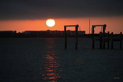 Photograph - Sunrise Indian River Lagoon Dock by Ken Figurski