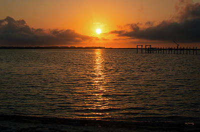 Photograph - Sunrise Indian River Lagoon Wide 2 by Ken Figurski