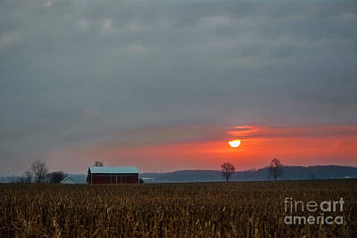 Photograph - Sunrise Indiana by David Arment
