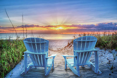 Photograph - Sunrise Is Calling Us by Debra and Dave Vanderlaan