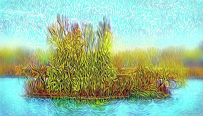 Digital Art - Sunrise Island Light by Joel Bruce Wallach