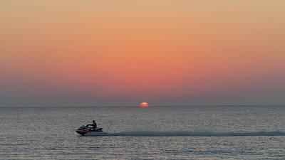 Photograph - Sunrise Jet Ski Delray Beach Florida by Lawrence S Richardson Jr