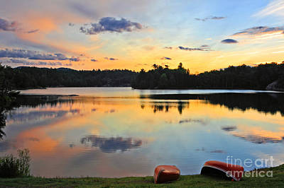 Photograph - Sunrise Killarney Provincial Park by Charline Xia