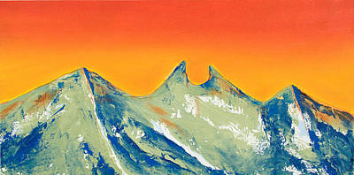 Mexican Painting - Sunrise La Silla by Kandyce Waltensperger