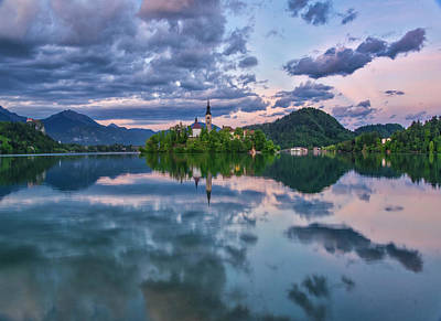 Photograph - A Picturesque Lake Bled. by Usha Peddamatham