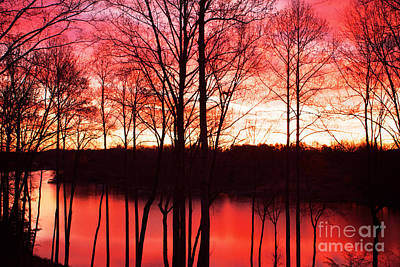 Sunrise Lake Norman North Carolina Art Print