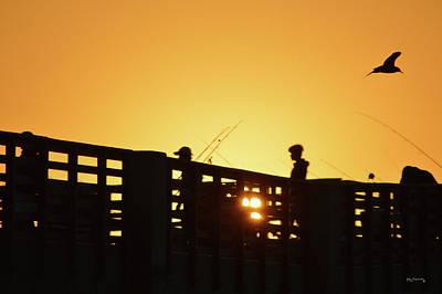 Photograph - Sunrise Lake Worth Fishing Pier  by Ken Figurski