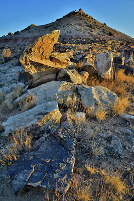 Photograph - Sunrise Light On Boulders And Bentonite Hills by Ray Mathis