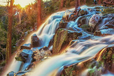 Photograph - Sunrise Light On Eagle Falls by Marc Crumpler