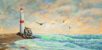 Sunrise Lighthouse Original by Ken Figurski